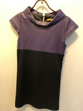 Alice and Olivia Purple  Black Leather Dress Sz S