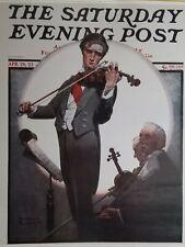 "Norman Rockwell Vintage Poster Print 17"" x 22"" 1923 violin virtuoso Q"