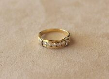 Channel Set Diamond Wedding Band / Ring - 14k. Two Tone Gold- approx. .45 cts.