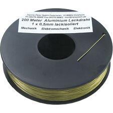200 m Aluminium Draht lackisoliert 0,5mm superleicht