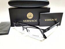 Authentic VERSACE VE1184 1261 Matte Black Semi Rimless 53mm Men's Eyeglasses