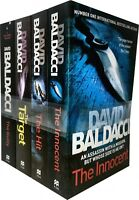 David Baldacci Will Robie Series 4 Books Collection Set The Target,Hit, Innocent