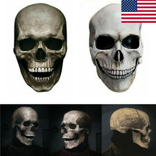 New Full Head Skull Mask Helmet With Movable Jaw Halloween Party Prop Latex Gift