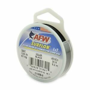 AFW Surflon Nylon Coated 7 Strand Wire Black