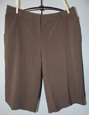 CHRISTOPHER & BANKS Stretch Brown Longer Length Shorts Size 14