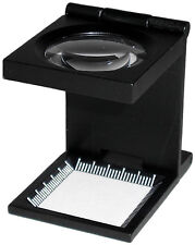 W Linen Tester Stamp Magnifier - 6X-28m lens-metal frame-new-Free Us Ship Us