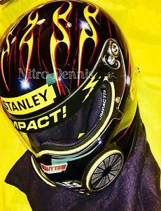 "NHRA Doug Kalitta TOP FUEL Dragster NITRO Race Worn HELMET Stanley ""RARE"""