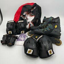 K2 Ascent Inline Skates Roller Blades Soft Boot Green Black Mens Size 12 Extras
