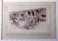 1915 WWI WW1 PRINT SHELTERS WICKER-WORK GRASS PLITS GARDEN BEDS TRENCHES GALICIA