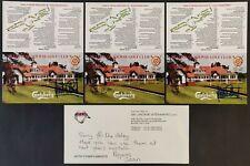 Jackie Stewart & Stirling Moss Signed Golf Scorecards (X3) + JS Cover Slip