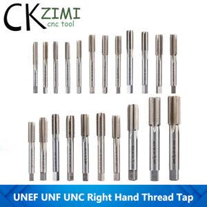 1/4 5/16 3/8 7/16 1/2 9/16 5/8 3/4 7/8 UNC UNF HSS CNC Machine Right Thread Tap