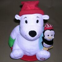 Hallmark Snowtime Jingle Pals Polar Bear Penguin Sled Animated Musical EXCELLENT