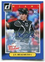 2014 Donruss The Rookies Autographs 73 J. T. Realmuto Rookie Auto (a)