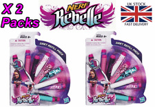 2 PACKS 12 x Nerf Rebelle darts Girls Nerf Gun Bullets Refill 24 darts in total