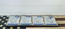 "Lot! (4) Western Digital Scorpio Blue 160GB 5400RPM 2.5"" SATA Laptop HDD"