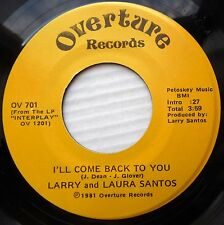 LARRY SANTOS 45 THERE GOES MY BABY mintMinus b/w I'LL COME BACK TO YOU vg++ F353