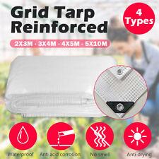 Reinforced Grid Clear Tarp Screen Camping Tarpaulin Waterproof Cover Rain Shed