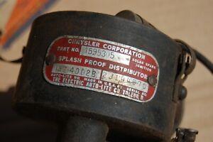 Chrysler   Desoto distributor  1595305 1950's dual point