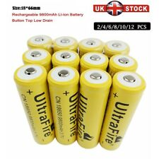 More details for 2/4/6/8/10/12pcs battery 9800mah 3.7v rechargeable li-ion low drain batteries uk
