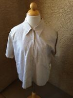 Irene Allison Women's Sage Green & White Vintage Button Down Blouse Size M New
