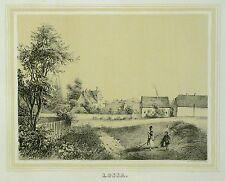 Tonlithografie 1854 - THALLWITZ Rittergut Lossa - Poenicke