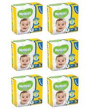 6pz HUGGIES UNISTAR Pannolini Bambini misura seconda 3-6 kg NUOVI E ORIGINALI