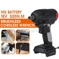 """1/2"""" 18V 520N.m Electric Brushless Impact Wrench Rechargeable For Makita Battery"""