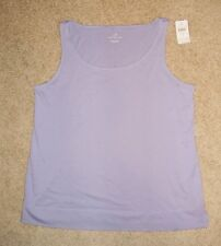 NWT J Jill Freesia Purple Scoop Neck Layering Tank Top Tee M L  Relaxed Fit