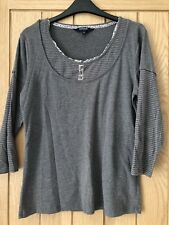 Maine Long Sleeve Grey Top Size 14