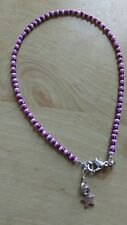 funky purple and lilac bead anklet/ankle bracelet hippy boho summer beach fun