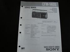 Original Service Manual Schaltplan Sony CFM-140II