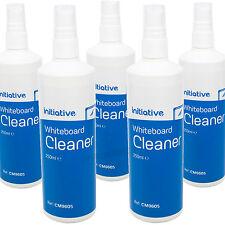 5 X 250ml Whiteboard Surface Spray Cleaner Bottles Dry Wipe Marker Pen Remover