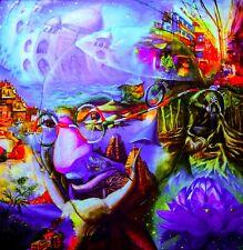 Mushroom Tapestry, UV Wall Art, Blacklight Art, Neon Tapestry, Festival Tapestry