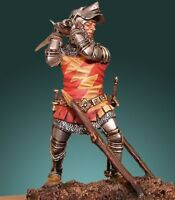 English Knight with sword Battle of Agincourt 54mm Tin Painted Soldier | Museum