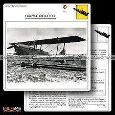 #092.14 CAUDRON C 270 LUCIOLE - Fiche Avion Airplane Card