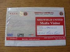 Billete De 25/03/2003: Sheffield United v Gillingham (medios visitante). sin obvio Fau