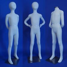 New Totally Flexible and Bendable Arms and Legs K13-SW Kid Mannequin in White
