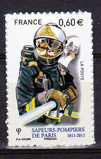 Sapeurs-Pompiers superbe timbre autocollant de France, de 2011 neuf,0