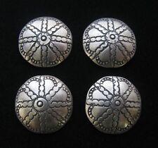 "(4) #917 Silver 1"" Buttons/Conchos"