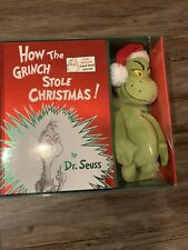 """DR SEUSS HOW THE GRINCH STOLE CHRISTMAS GIFT BOOK 14""""PLUSH JOURNAL NEW Hardcover"""