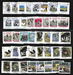 100 used Isle of Man semi-commemoratives