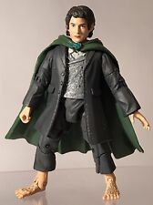 """Lord Of The Rings There And Back Again Frodo Baggins 6"""" Figure ToyBiz 2003 Green"""