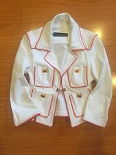 Dsquared2 White /Orange Blazer Jacket Sz 42
