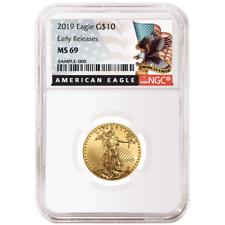2019 $10 American Eagle 1/4 OZ NGC MS69 Gold Negro Etiqueta er