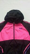 Women's Lonsdale  running jacket black pink  color size 16  BNWOT