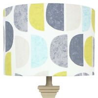 Fryetts Teal Luna Half Moon Scandi Drum Lampshade Lightshade
