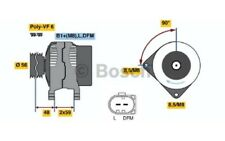 BOSCH Alternador 90A Para VW GOLF BORA SEAT LEON NEW BEETLE 0 986 047 250