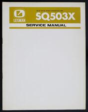 Luxman sq503x ORIGINAL Amplificateur Stéréo / Manuel de service / Diagram haut