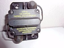 184100 Waterproof Thermal Circuit Breaker 100A  42V  Ignition Protected