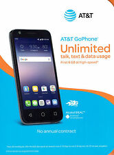 New AT&T Alcatel Ideal - 4G LTE 8GB 5MP Andriod 5.1 - Prepaid GoPhone Slate Blue